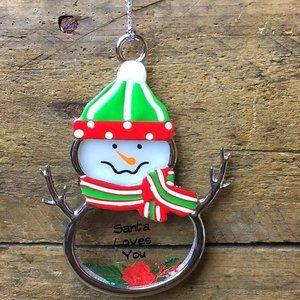 Ganz Snowman Ornament - Santa Loves You